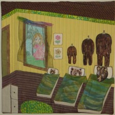 """Peeping Goldilocks"" by Carol Heist, International Fairy Tale Challenge Quilt"