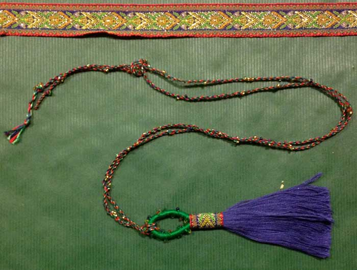 Cord with small tassel--JO