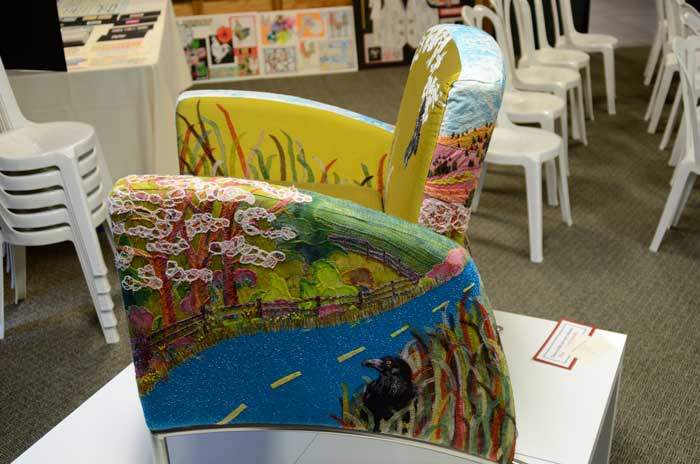 Wanderlust Armchair Traveler by Maria Winner, view one