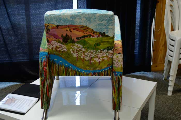 Wanderlust Armchair Traveler by Maria Winner, view two