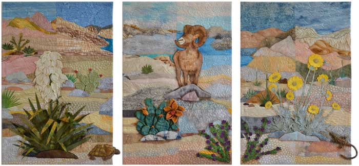 Views of the Mojave by Art Quilts, Etc, a membership circle of Desert Quilters of Nevada