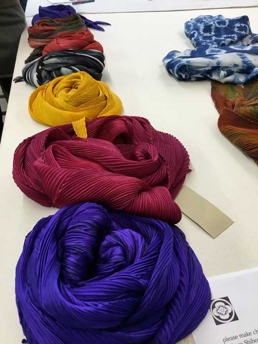 Scarves created by Barbara and son Michael Pickett