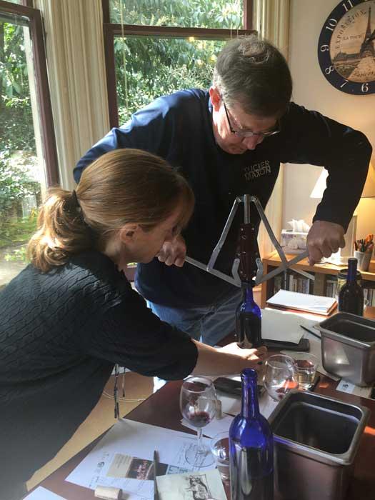 Corking the wine