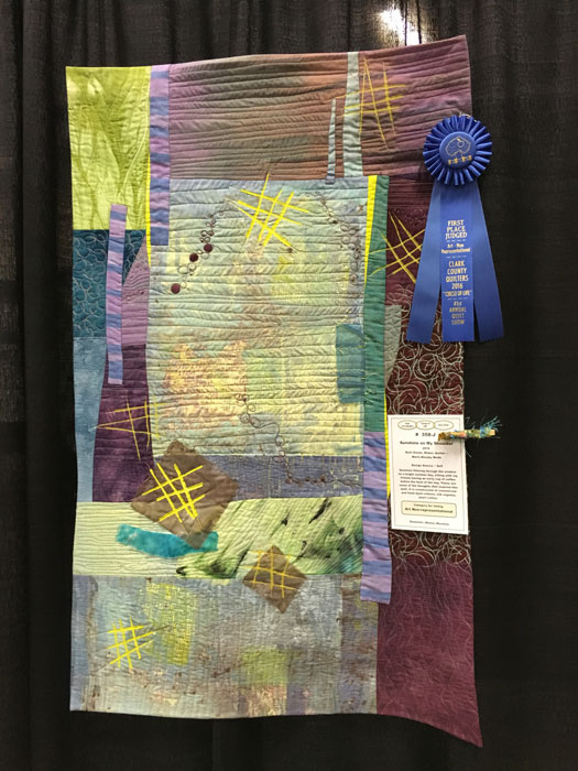Sunshine on My Shoulder by Marie Murphy Wolfe, First Place Art Non-Representational