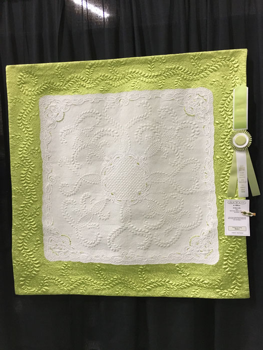 A New Life by Val Pellens, First Place Longarm Quilting