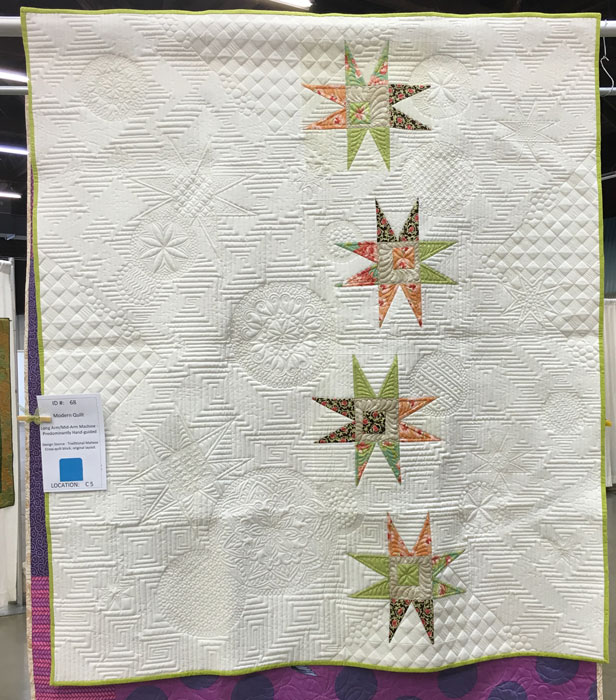 Reach for the Stars by Colleen Barnhardt, quilter and maker. First Place--Modern