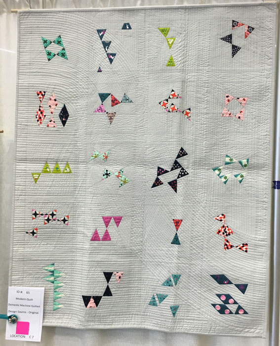Triple Play by Christine Jiun Yi, quilter and maker. An original design.