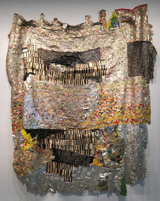 "Artist: El Anatsui ""Life Egg"" 2015"