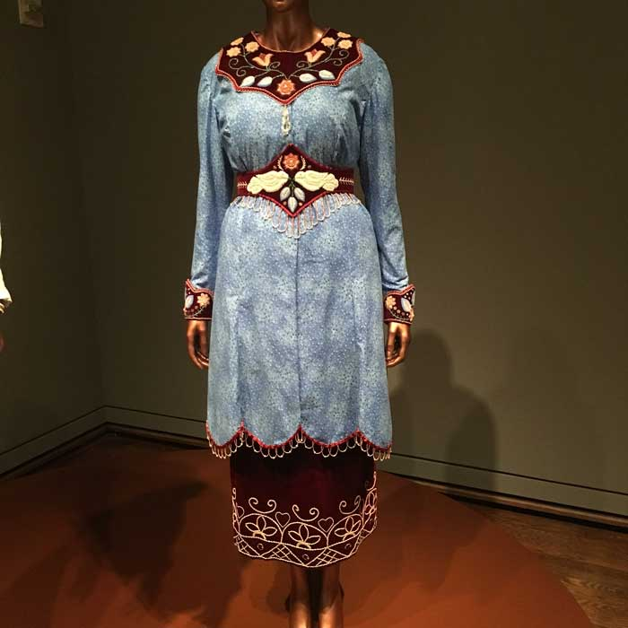 Artist: Niio Perkins Emma Ensemble Cotton, velvet, glass beads, metal pins