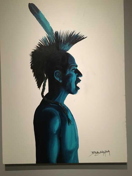 Bunky Echo Hawk Painting