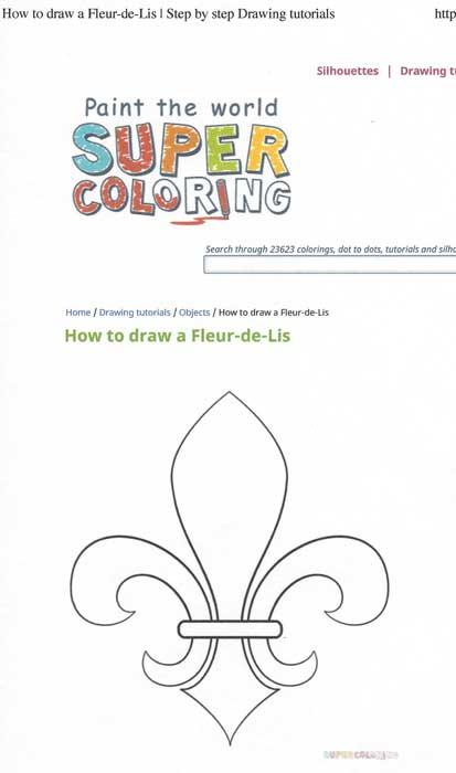 How to Draw a Fleur-de-lys