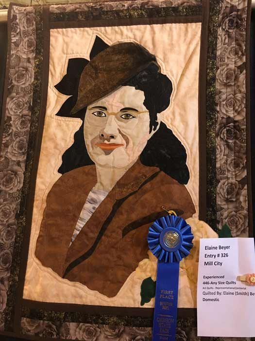 Maker: Elaine Beyer Art Quilt Category Mill City, OR