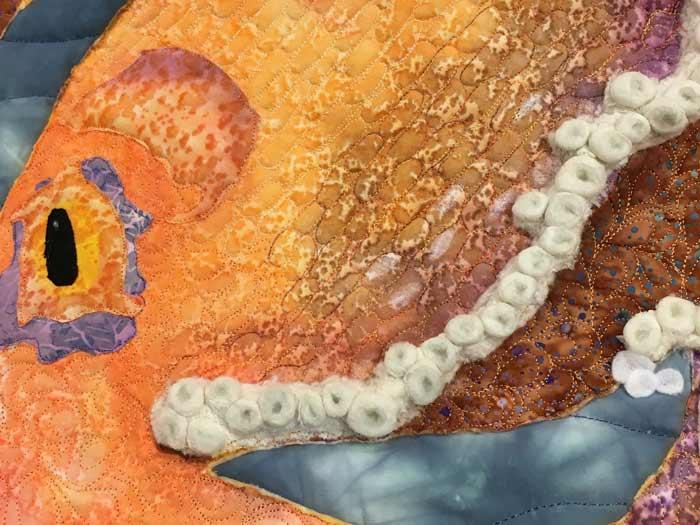 Octopus tentacle's detail